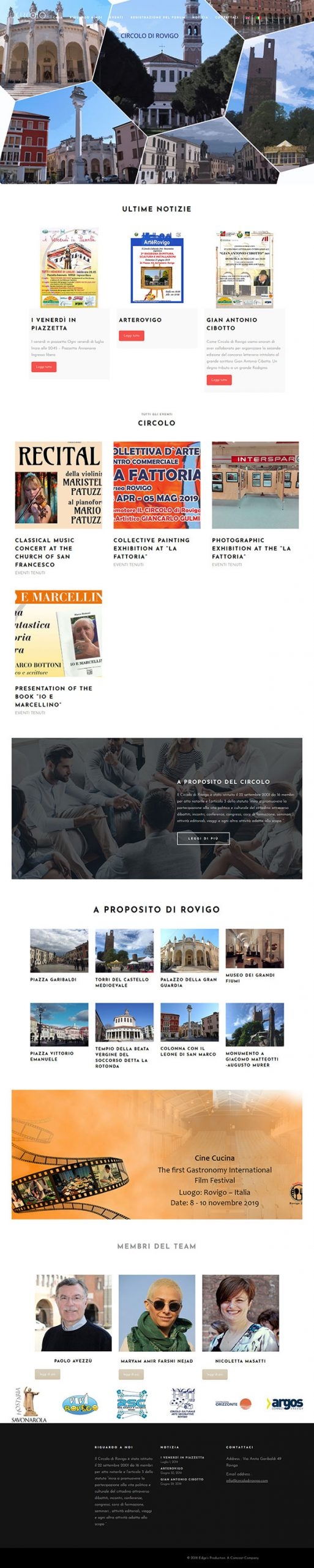 طراحی سایت چیرکولو دی رویگو